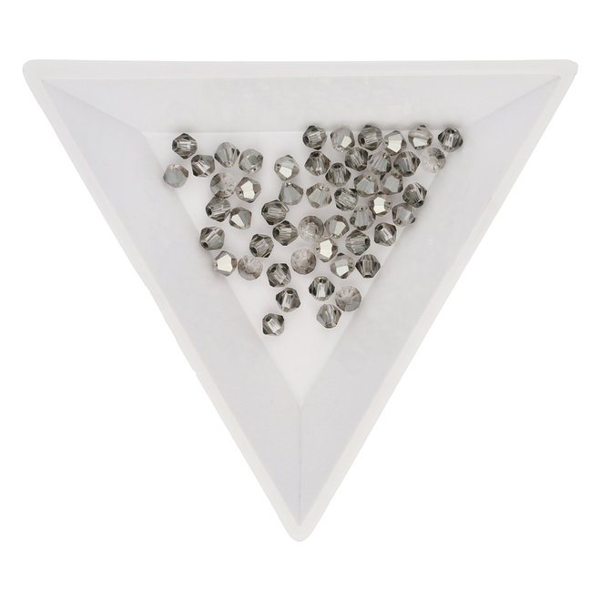 Doppelkegel 3 mm – aus Glas – Light Grey