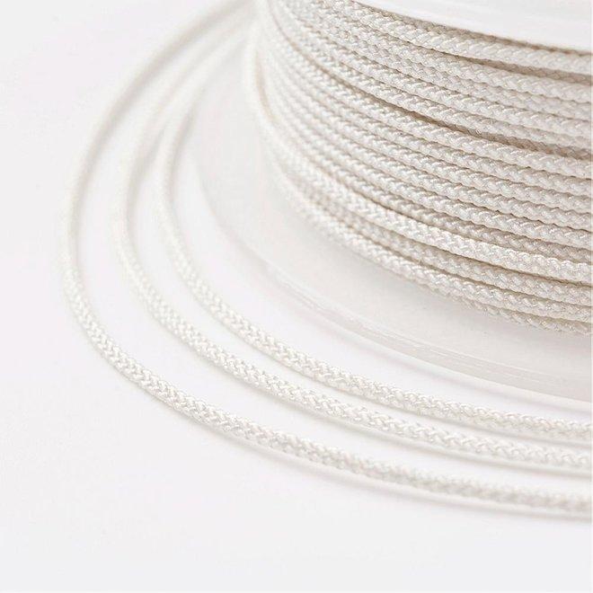 Kordel aus Nylon 1 mm - weiss