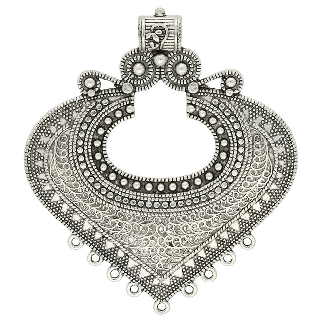 Chandelier Anhänger Tibeter Stil - Farbe antik Silber