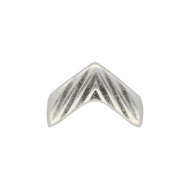 Avessalos-Chevron Bead Substitute - Silver Plate