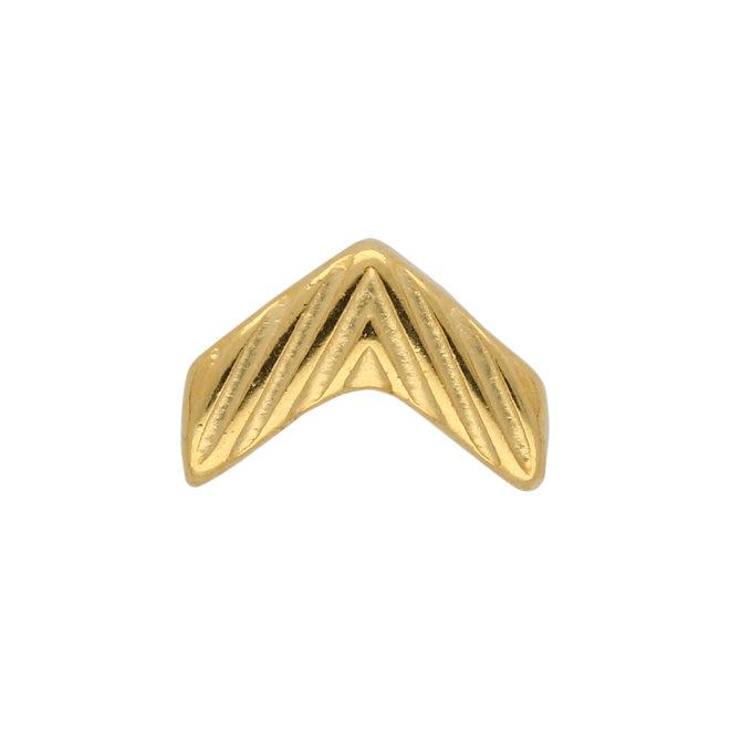 Avessalos-Chevron Bead Substitute - Gold Plate