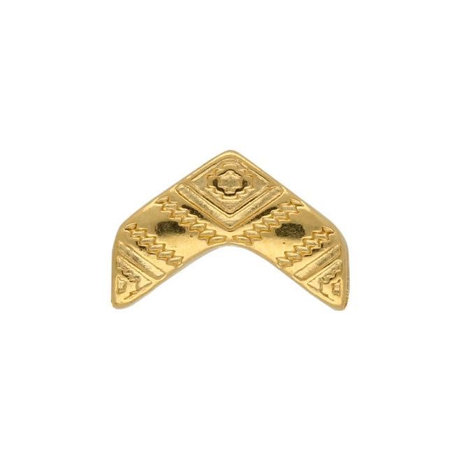 Koudouro-Chevron Bead Substitute - Gold Plate