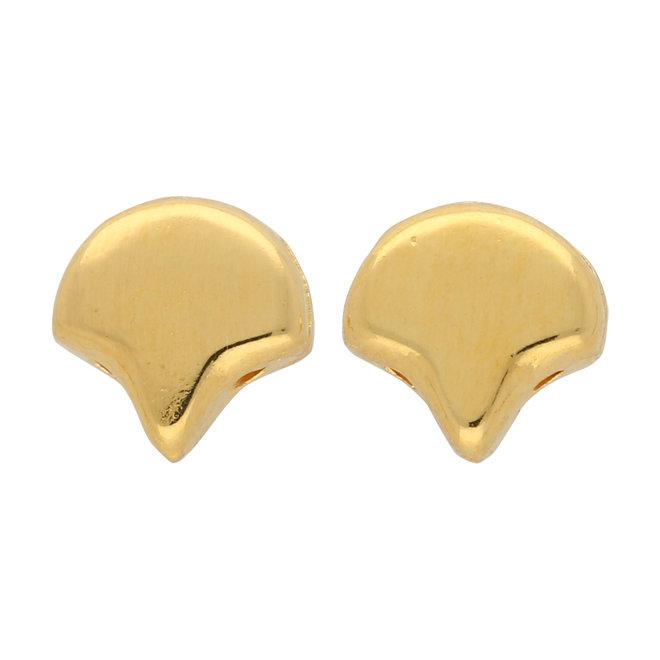 Alopronia-Ginko Ohrringe - Gold Plate