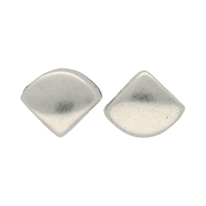 Cymbal™ Kardiani-Silky Side Bead - Antique Silver Plate