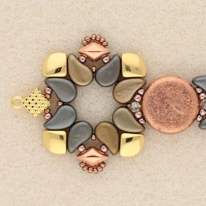 Cymbal™ Kardiani-Silky Side Bead - Gold Plate