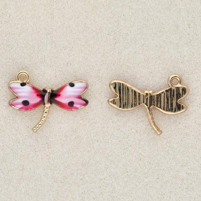 Charm-Anhänger Libelle - Pink
