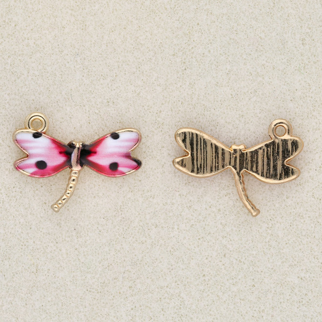 Charm-pendente Libellula - Pink