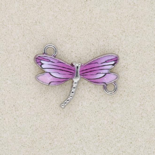 Charm-Anhänger / Verbinder Libelle - Purple