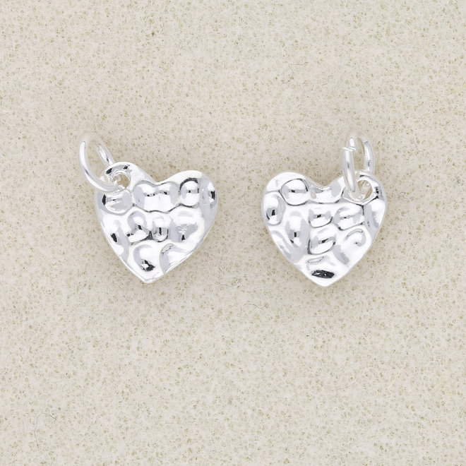 Charm-pendentif Coeur (martelé)
