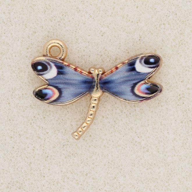 Charm-Anhänger Libelle - Blue