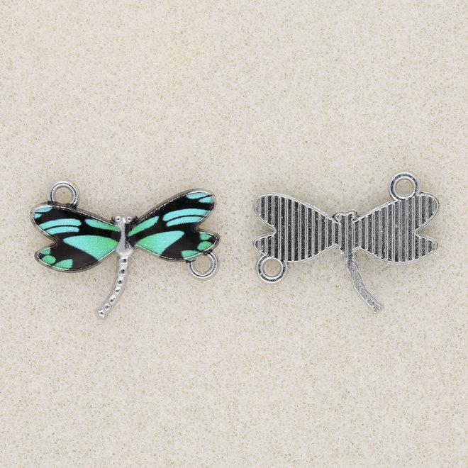 Charm-Anhänger / Verbinder Libelle - Green