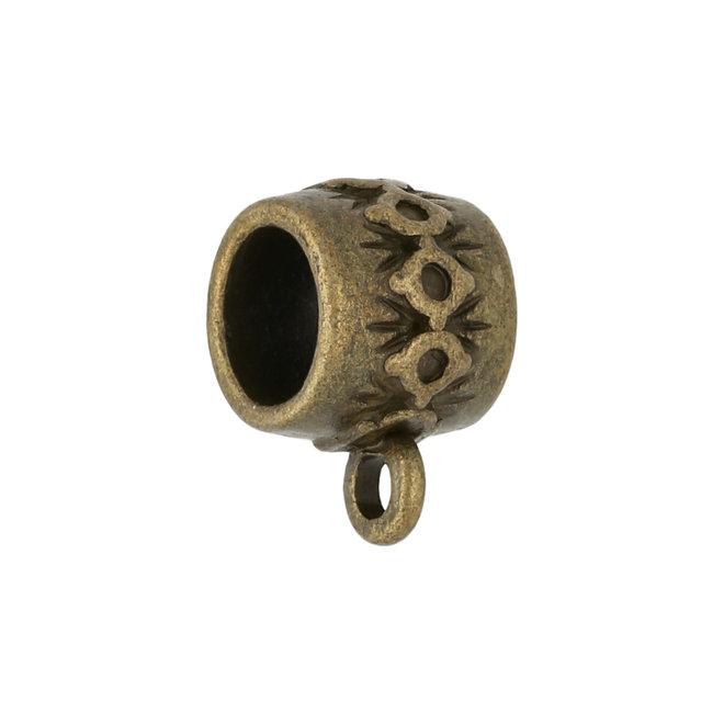 Anhängerschlaufe tibetischen Stil - Antik Bronze