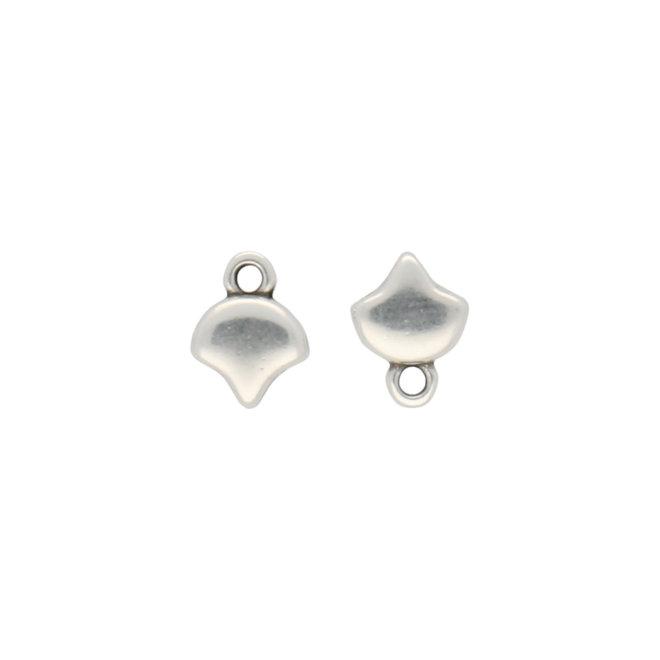 Kastro-Ginko Bead Ending - Silver Plate