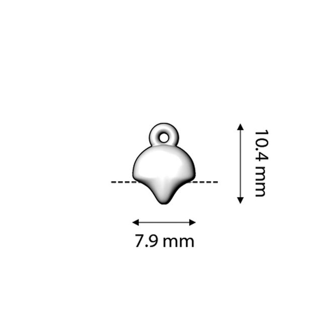 Cymbal™ Kastro-Ginko Bead Ending - 24K Gold Plate