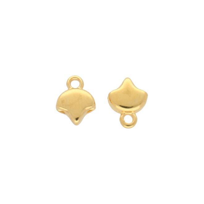 Kastro-Ginko Bead Ending - 24K Gold Plate