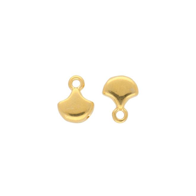 Karavos-Ginko Bead Ending - 24K Gold Plate