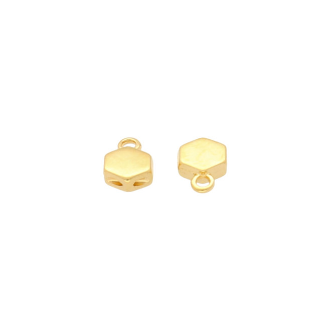Cymbal™ Maragas-Honeycomb Bead Ending - 24K Gold Plate