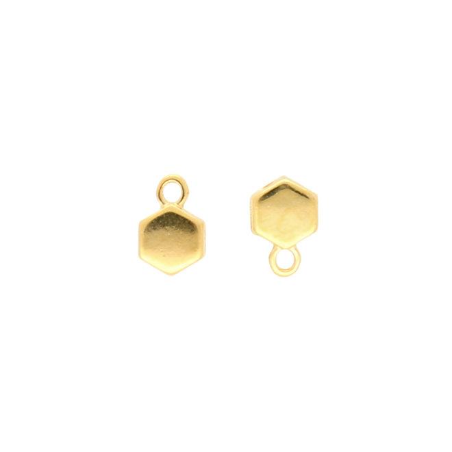 Maragas-Honeycomb Bead Ending - 24K Gold Plate
