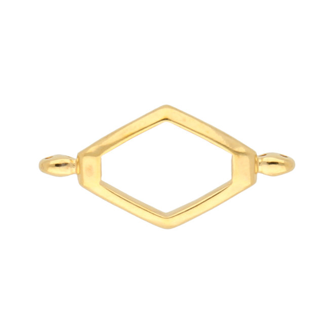 Kotroni-SuperDuo Bead Connector - 24K Gold Plate