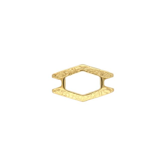 Alado-SuperDuo Bead Connector - 24K Gold Plate