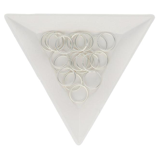 Anellini aperti 10 mm - colore argento