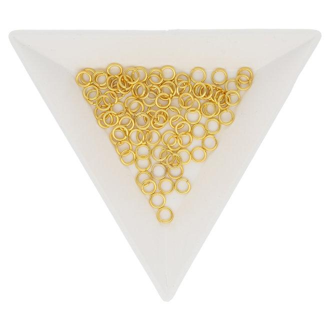 Biegeringe 4 mm – Goldfarbig