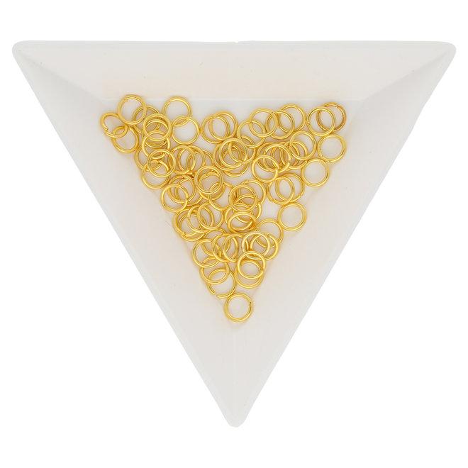 Biegeringe 5 mm – Goldfarbig