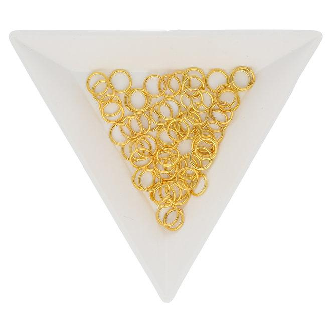 Anellini aperti 6 mm - colore oro