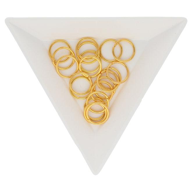 Anellini aperti 10 mm - colore oro