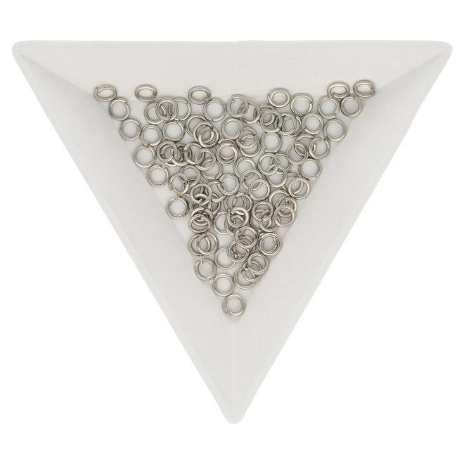 Biegeringe 4 mm – Platinfarbig