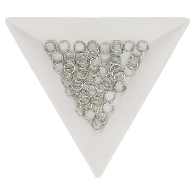 Anellini aperti 5 mm - colore platino