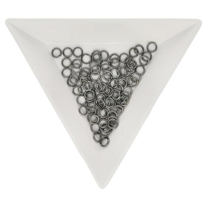 Biegeringe 4 mm – Farbe Gunmetal
