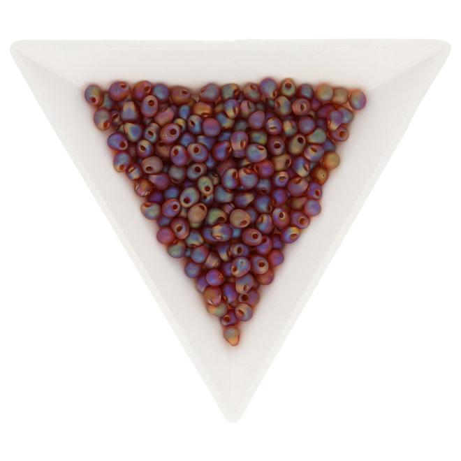 Drop Beads 3,4 mm – Matte Transparent Dark Amber