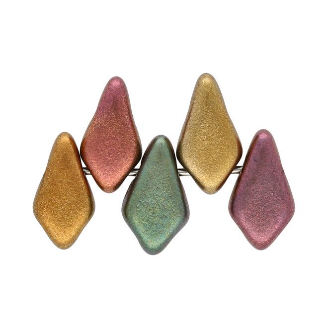 Kite Bead 9x5 mm - Violet Rainbow