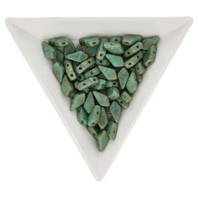 Kite Bead 9x5 mm - Turquoise Green Lumi