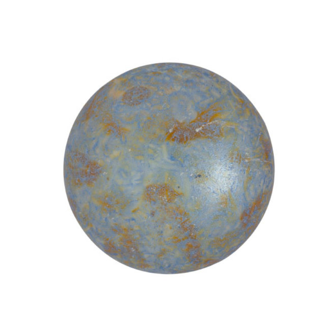 Cabochon par Puca® 18 mm - Opaque Blue/Green Spotted