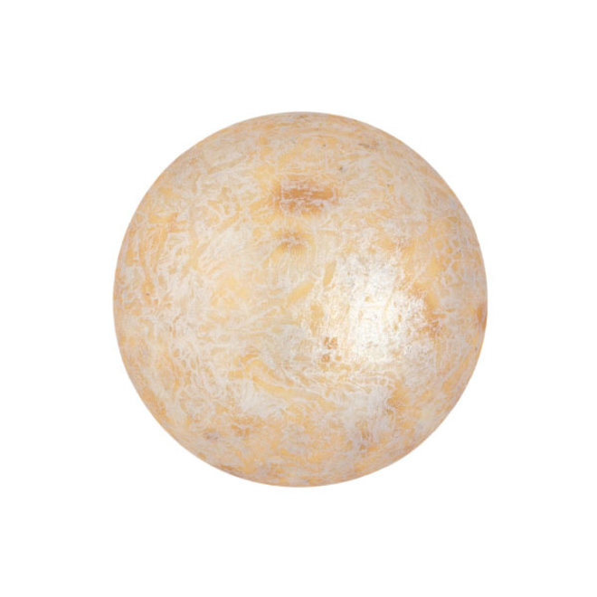 Cabochon par Puca® 18 mm - Opaque Ivory Spotted
