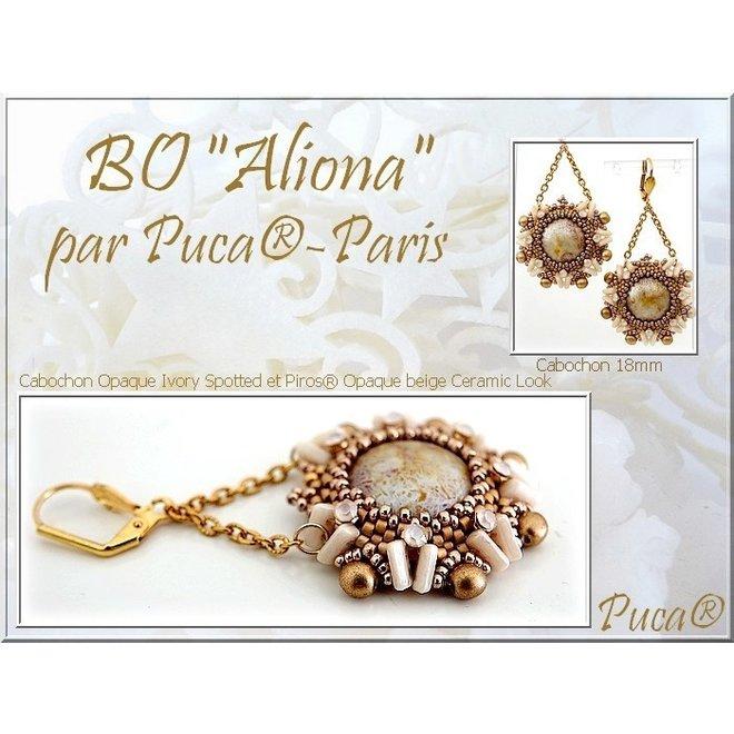 Cabochon par Puca® 18 mm - Opaque Rose Spotted