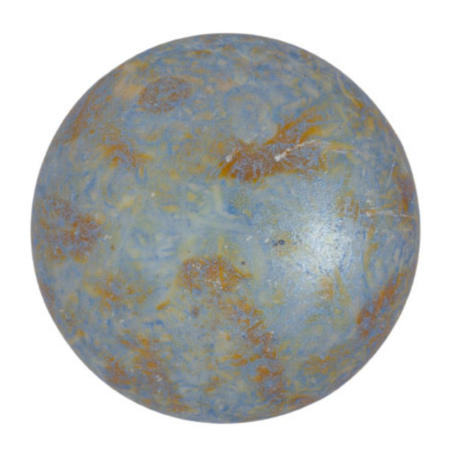 Cabochon par Puca® 25 mm - Opaque Blue/Green Spotted