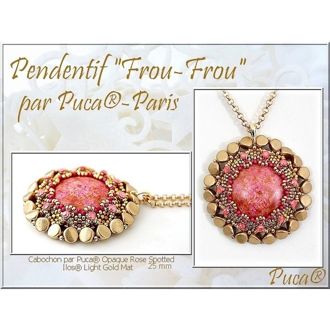 Cabochon par Puca® 25 mm - Opaque Rose Spotted