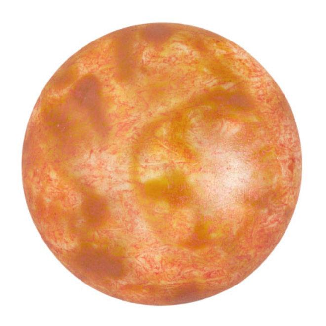 Cabochon par Puca® 25 mm - Opaque Salmon Spotted