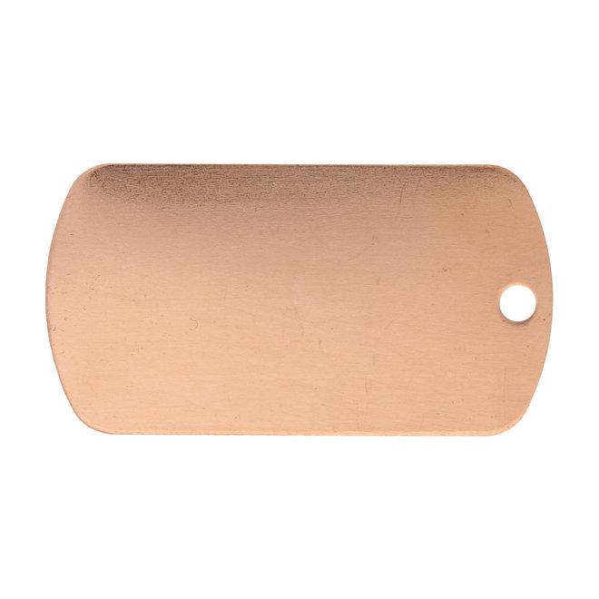 Metal stamping blank: Plakette aus Kupfer, gross