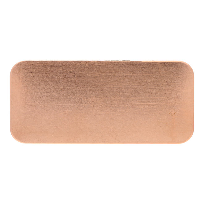 Metal stamping blank: Rechteck aus Kupfer, gross