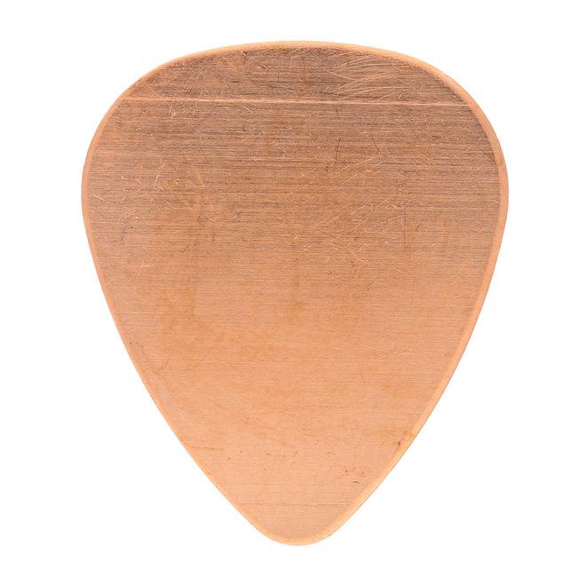 Metal stamping blank: Gitarren Pick aus Kupfer