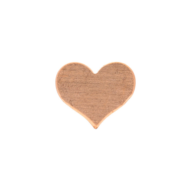Metal stamping blank: cuore classico in rame, piccolo
