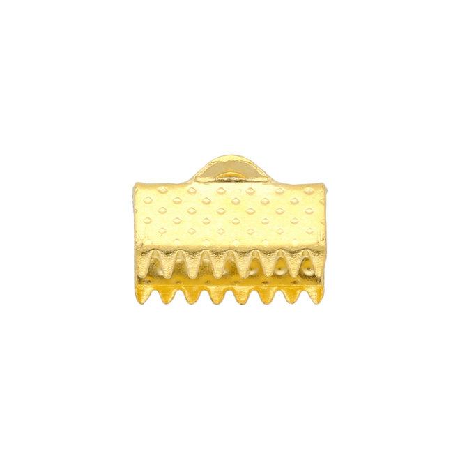 Bandklemme 10 mm, Goldfarbig