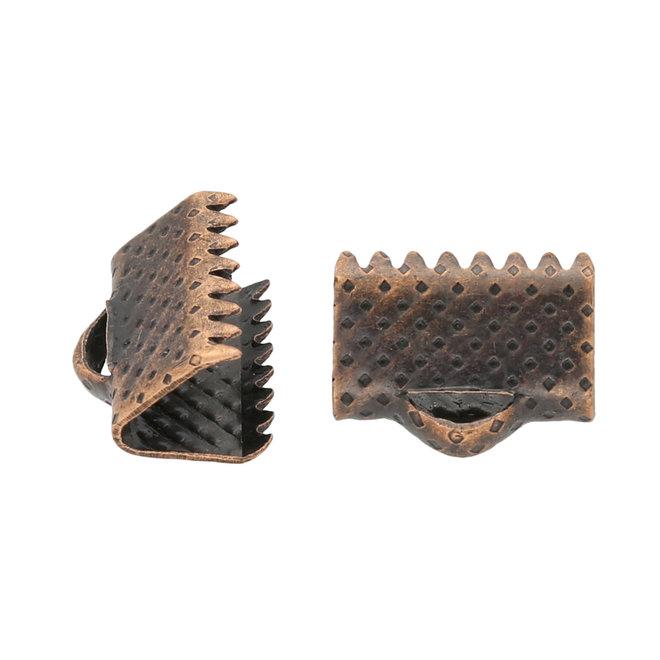 Bandklemme 10 mm, Farbe Kupfer
