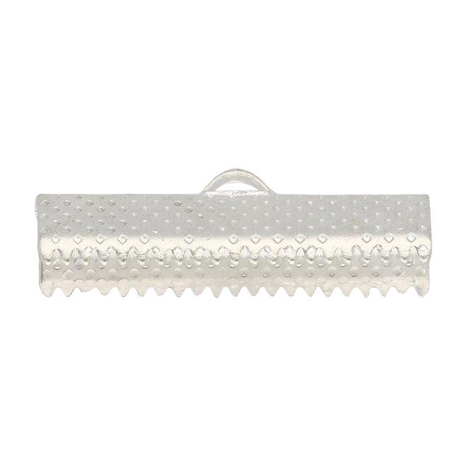 Bandklemme 25 mm, Farbe Silber