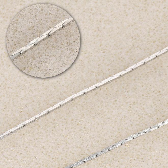 Collana fine cobra – colore platino