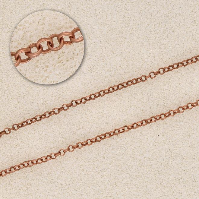 Erbsenkette 2 mm, antikes Kupfer